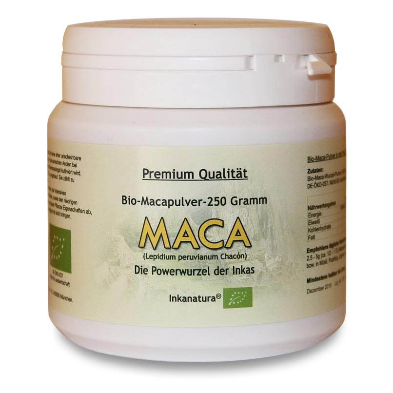 maca pulver 1 x 250g dose bio maca pulver huayre junin peru inkanatura ebay. Black Bedroom Furniture Sets. Home Design Ideas